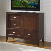 Homelegance Simpson TV Chest in Brown Cherry