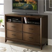 Homelegance Kasler TV Chest King Bed in Medium Walnut