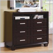 Homelegance Lewiston TV Chest in Dark Cherry