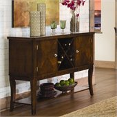 Homelegance Alita Server in Warm Cherry