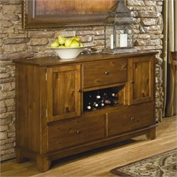 Homelegance Marcel Server in Warm Oak
