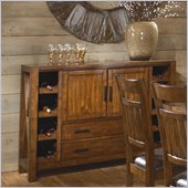 Homelegance Vasquez Server in Warm Oak