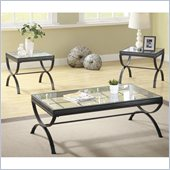 Homelegance Claro 3 Piece Occasional Table Set in Black