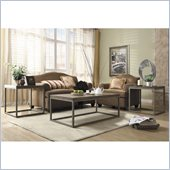 Homelegance Gray 3 Piece Occasional Table Set in Distressed Oak