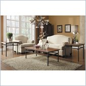 Homelegance Winch 3 Piece Occasional Table Set in Distressed Cherry