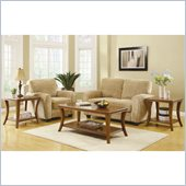 Homelegance Petrillo 3 Piece Occasional Table Set in Cherry