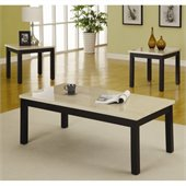 Homelegance Archstone 3 Piece Occasional Table Set in Black