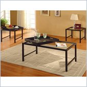 Homelegance Watsonville 3 Piece Occasional Table Set in Black