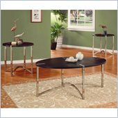 Homelegance Star 3 Piece Occasional Table Set in Brown