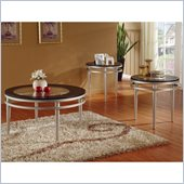 Homelegance Hodegs 3 Piece Occasional Table Set in Ebony