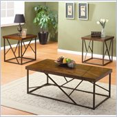 Homelegance Franks 3 Piece Occasional Table Set in Warm Brown