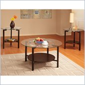 Homelegance Concentric 3 Piece Occasional Table Set in Copper