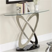 Homelegance Firth Sofa Table in Chrome and Espresso