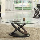 Homelegance Firth II Oval Cocktail Table in Cherry