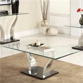Homelegance Atkins Cocktail Table in Chrome and Espresso