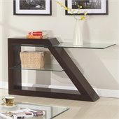 Homelegance Jensen Sofa Table in Espresso