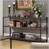 Homelegance Mikah Sofa Table in Burnish Oak