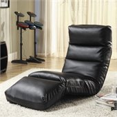 Homelegance Gamer Floor Lounge Chair in Black