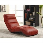 Homelegance Gamer Floor Lounge Chair in Red