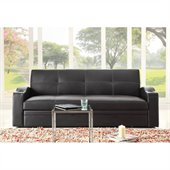 Homelegance Novak Elegant Lounger with Pull Out Trundle in Black