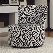 Homelegance Easton Swivel Lounge Chair in Wild Zebra