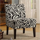 Homelegance Lifestyle Accent Chair in Wild Zebra and Modern Swirl