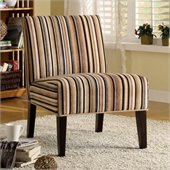 Homelegance Lifestyle Armless Accent Chair in Multi-Colored Stripe