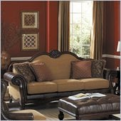Homelegance Winnfield Sofa in Golden Burgundy