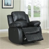 Homelegance Cranley Bonded Leather Match Recliner Chair in Black