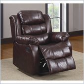 Homelegance Smithee Recliner Chair in Burgundy Polished Microfiber