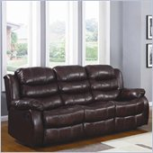 Homelegance Smithee Recliner Sofa in Polished Microfiber