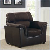 Homelegance Lombard Chair in Chocolate Microfiber and Bi-Cast Vinyl