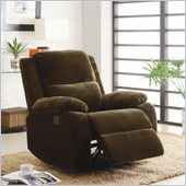 Homelegance Snyder Recliner Chair in Coffee Microfiber