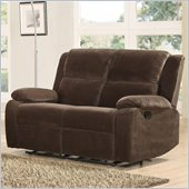 Homelegance Snyder Recliner Loveseat in Coffee Microfiber