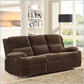Homelegance Snyder Recliner Sofa in in Coffee Microfiber