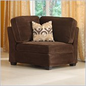 Homelegance Burke Modular Corner with 1 Pillow in Dark Brown