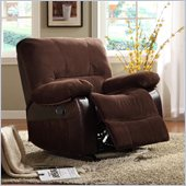 Homelegance Caputo Rocker Recliner Chair in Dark Brown