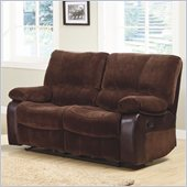 Homelegance Caputo Recliner Loveseat in Dark Brown