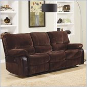 Homelegance Caputo Recliner Sofa in Dark Brown