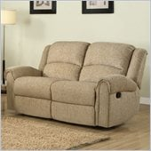 Homelegance Esther Recliner Loveseat in Beige Chenille