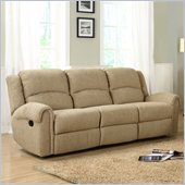 Homelegance Esther Recliner Sofa in Beige Chenille
