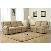Homelegance Esther Recliner Sofa and Loveseat Set in Beige Chenille