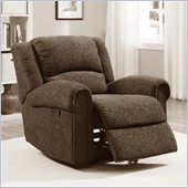 Homelegance Esther Recliner Chair in Dark Brown Chenille
