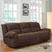 Homelegance Esther Recliner Sofa in Dark Brown Chenille