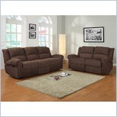 Homelegance Esther Recliner Sofa and Loveseat in Dark Brown