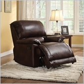 Homelegance Elsie Recliner Chair in Dark Brown Polished Microfiber