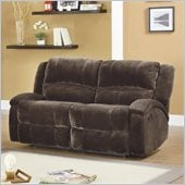 Homelegance Alejandro Recliner Loveseat in Chocolate