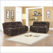 Homelegance Alejandro Recliner Sofa and Loveseat Set in Chocolate