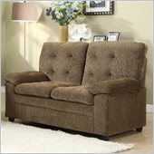 Homelegance Charley Loveseat in Brown Chenille