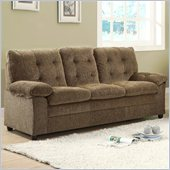 Homelegance Charley Sofa in Brown Chenille